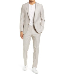 BOSS Novanben Solid Cotton Wool Suit