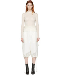 Helmut Lang Cream Crew Neck Pullover
