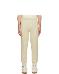AMI Alexandre Mattiussi Off White Boiled Wool Lounge Pants