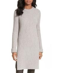 Joseph Ribbed Wool Blend Sweater Dress