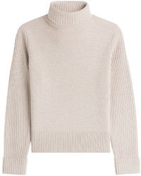Beige Wool Turtleneck