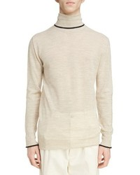 Contrast tipped wool turtleneck medium 4353875