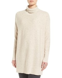 Peppered organic cotton blend turtleneck medium 952038