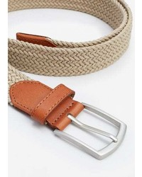 Mango man leather appliqu braided belt medium 3684021