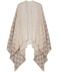 Missoni Frayed Metallic Cotton Blend Wrap