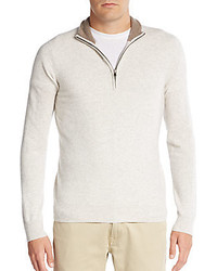 Saks Fifth Avenue Cashmere Quarter Zip Pullover