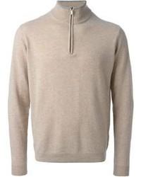 Canali Zipped Turtle Neck Sweater