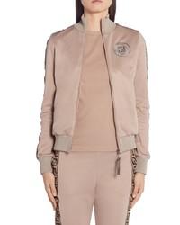 Fendi Rama Ff Logo Jersey Jacket