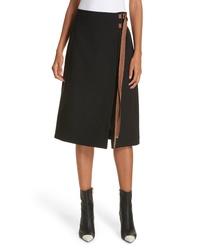 Tibi Anson Stretch A Line Skirt