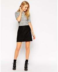 Asos Collection A Line Linen Mini Skirt