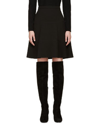 Giambattista Valli Black A Line Silk Skirt