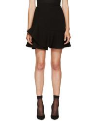 Alexander McQueen Black Peplum A Line Skirt