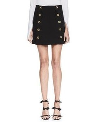 Chloe metal button a line skirt black medium 1055377