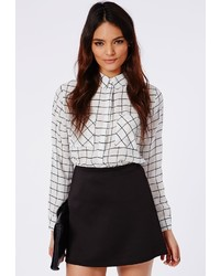 Missguided Lubiana Black A Line Mini Skirt