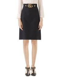 Gucci Marmont Cady Crepe A Line Skirt