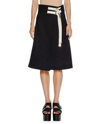 Marni D Ring A Line Wrap Skirt Blueblack