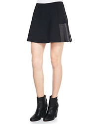 Rag and Bone Rag Bone Montrose Flared Leather Panel Skirt