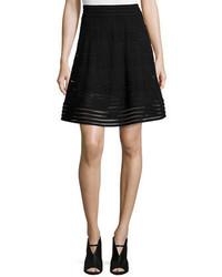 M Missoni Solid Rib Stitch A Line Skirt