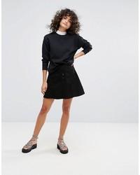Waven a line denim skirt medium 6711175