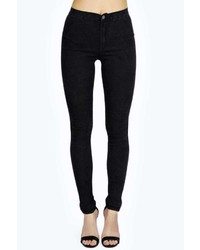 Boohoo Lara Super Skinny Black Acid Tube Jean