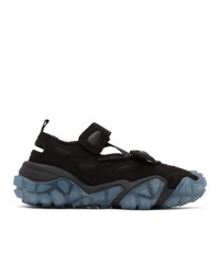 Acne Studios Black And Blue Velcro Sneakers