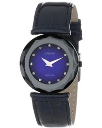 Jowissa J1017m Safira 99 Rhinestone Navy Blue Patent Leather Watch