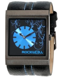 Rockwell Time Unisex Mc108 Mercedes Black Leather And Blue Watch