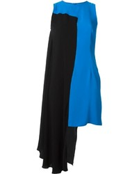 Black and blue shift dress original 10089328