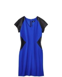 Oxford Collections, Inc. Mossimo Plus Size Cap Sleeve Ponte Dress Blueblack 1