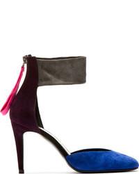 Pierre Hardy Plum Colorblocked Suede Altissimo Heels