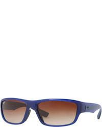 Ray-Ban Rectangular Full Rim Sunglasses Bluebrown