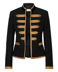 Saint Laurent Metallic Ed Brushed Cotton Twill Jacket