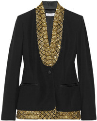 St michel embellished crepe blazer medium 112504