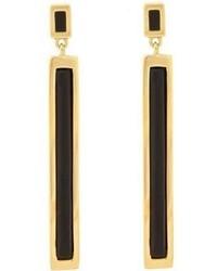 Maiyet Black Horn Drop Earrings Colorless