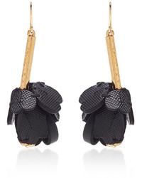 Marni Flower Leather Earrings