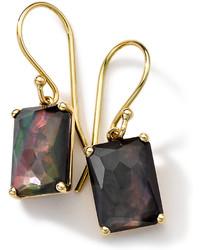 Ippolita 18k Gold Rock Candy Gelato Black Shell Earrings