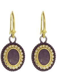Armenta Oval Drop Earrings With Champagne Diamonds