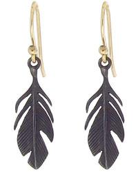 Annette Ferdinandsen Small Oxidized Sterling Feathers