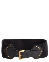 Prada Black Leather Stretch Waist Belt