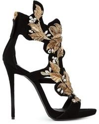 Giuseppe Zanotti Design Embroidered Floral Sandals