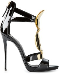 Giuseppe Zanotti Design Gold Detail Strappy Sandals