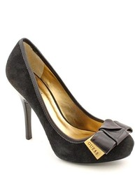 GUESS Gregi3 Black Suede Pumps Heels Shoes