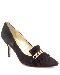Ivanka Trump Dinah Black Suede Pumps Heels Shoes