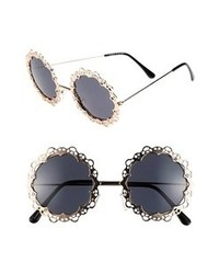 Black and Gold Embellished Sunglasses