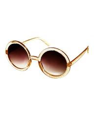 Asos Glitter Round Sunglasses