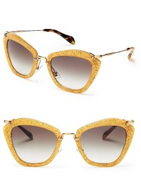 Miu Miu Glitter Noir Cat Eye Sunglasses