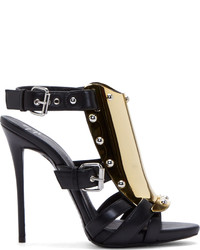 Black and gold heeled sandals original 9734076