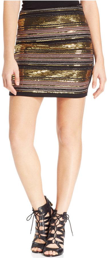 XOXO Juniors Beaded Mini Skirt