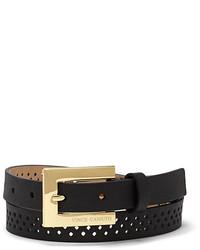 Vince Camuto Diamond Skinny Perforated Belt