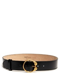 Alexander McQueen Double Skull Buckle Belt